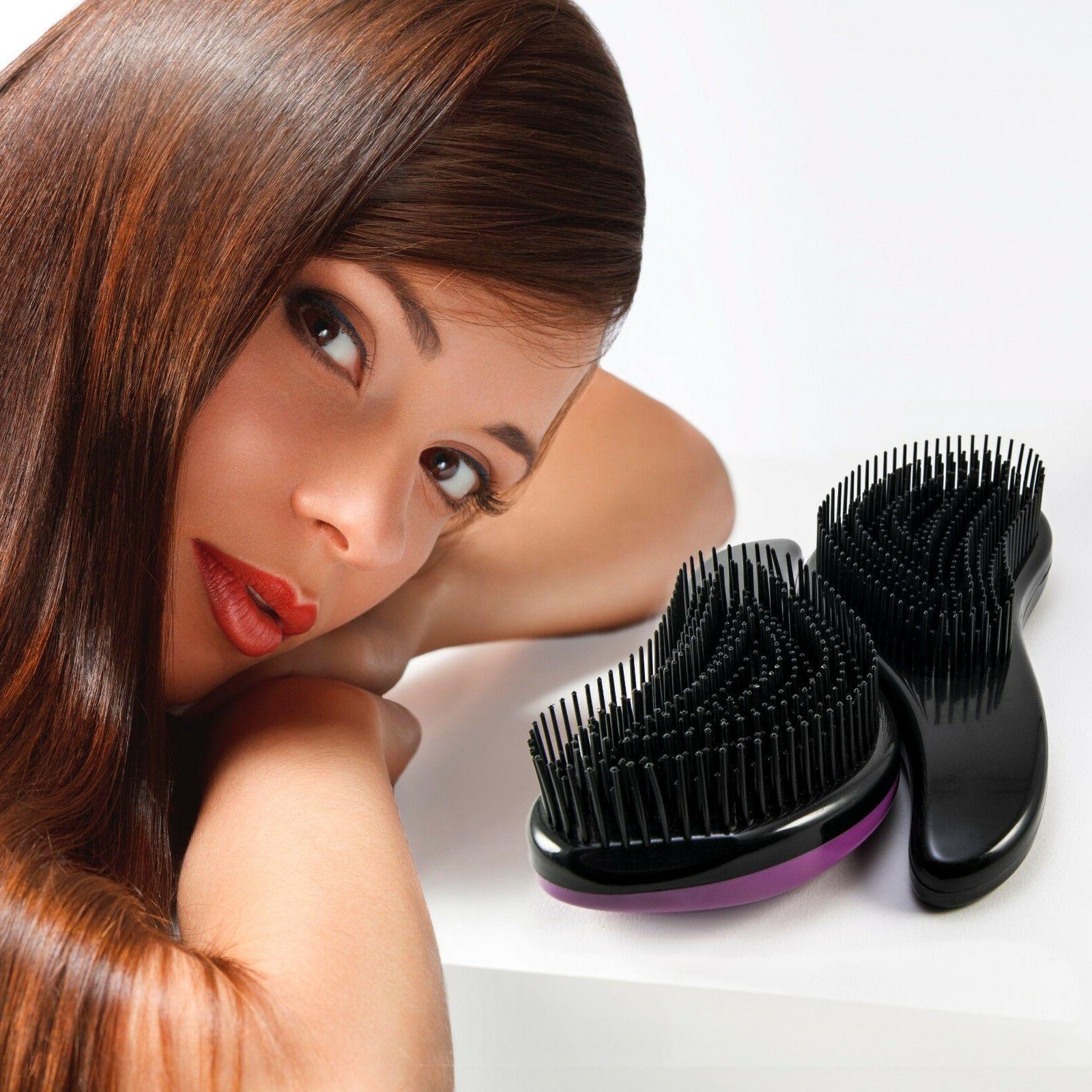Set of 2 Best Detangler Bon Detangling Hair Brush &