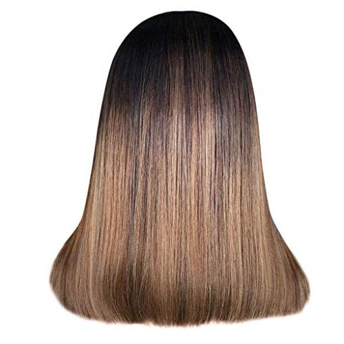 "Cinhent 16"" / Sexy Synthetic Short Straight BOBO Brown Women's Middle Parts Wigs Natural Long Wigs"