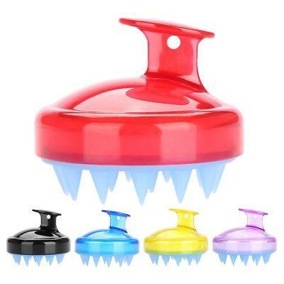 Silicone Shampoo Brush Hair Scalp Cleaning Massage Brush Sof