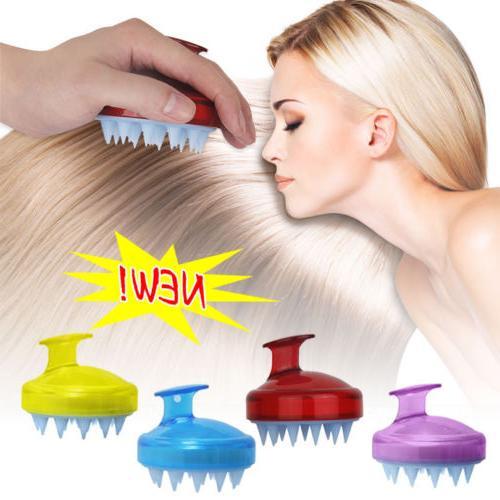 Silicone Shampoo Scalp Shower Body Washing Hair Massage Mass