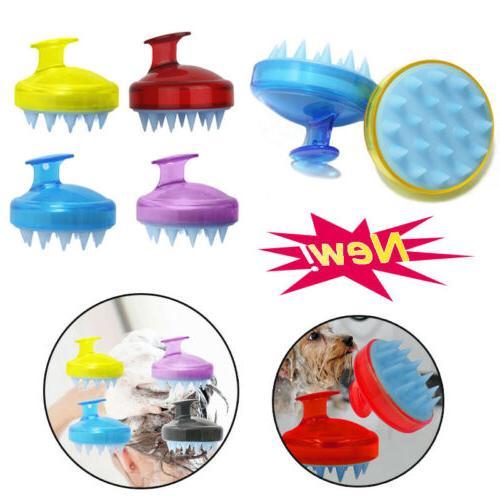 Silicone Shampoo Shower Body Washing Massager Brush Comb