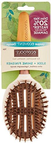 EcoTools Free Eco Friendly Sleek and Shine Finisher Hairbrush, with Recycled Materials