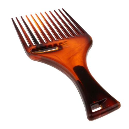smooth oily hair pick comb salon afro