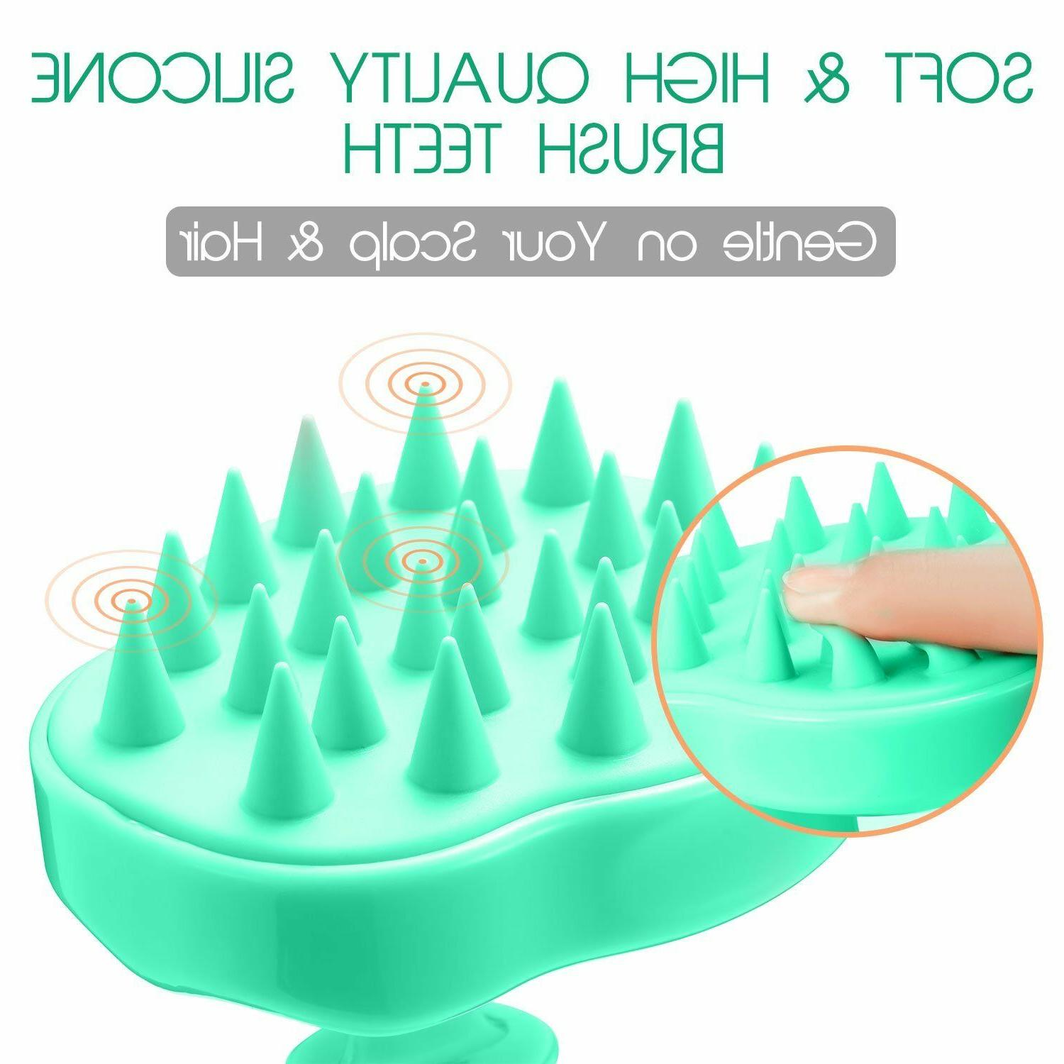 soft head massager brush scalp scrubber hair