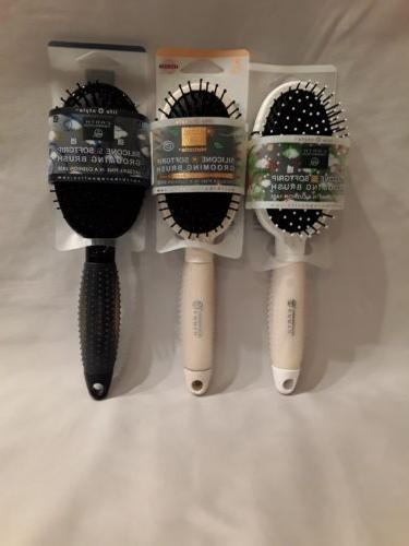 softgrip silicone grooming hair brush