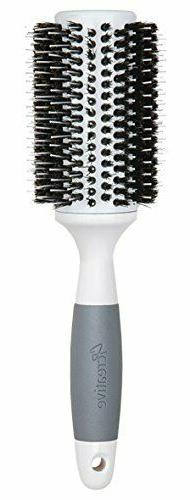 Creative Hair Brushes Solid Barrel Ceramic Mixed Bristles, X