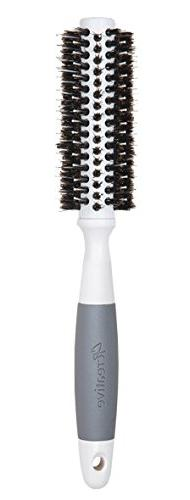 Creative Hair Brushes Solid Barrel Ceramic Mixed Bristles, S