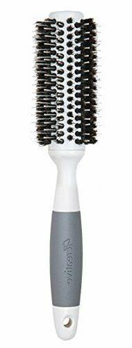 Creative Hair Brushes Solid Barrel Ceramic Mixed Bristles, M