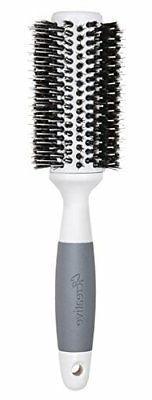 Creative Hair Brushes Solid Barrel Ceramic Mixed Bristles, L