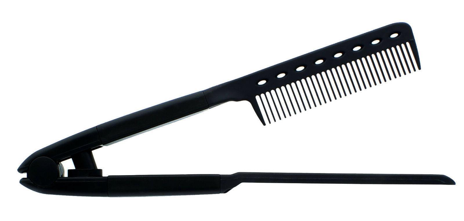 V TYPE Straightening Comb Brush Flat Dryer Styling Tool