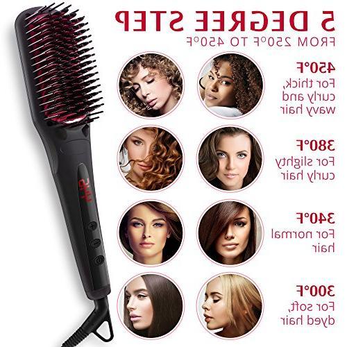 Hair Straightening Ceramic Heat Hair Straightener Frizz-Free - Professional Straightening Perfect Gift for Women travel