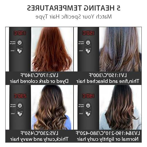 Hair Straightening - Ceramic Hair with Treatment MCH in 1 Electric Brush Comb OFF for Security