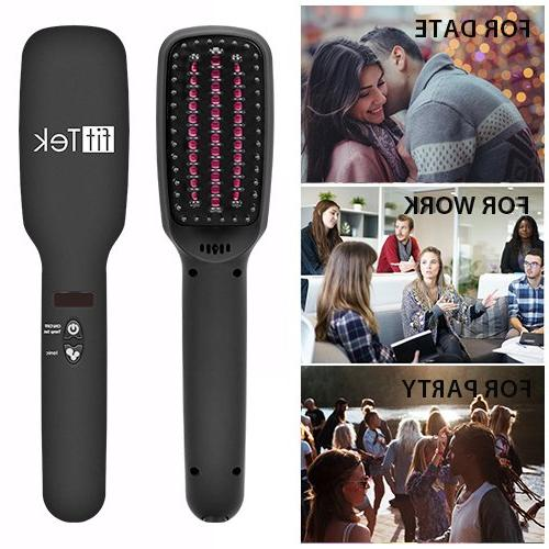 Hair Ceramic Hair with Ionic and MCH in Brush Anti-Scald Hair Comb and OFF