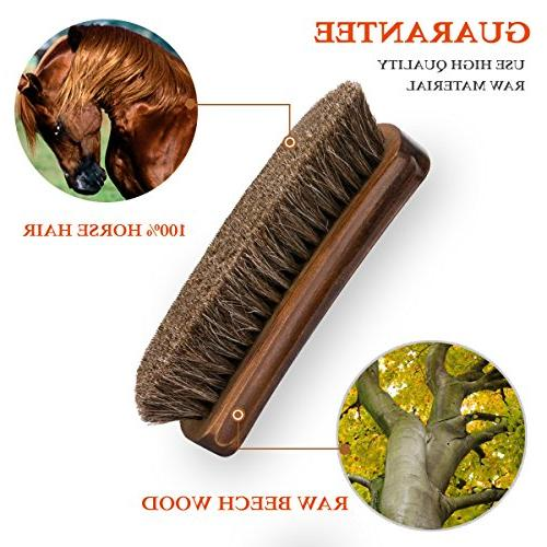 """TAKAVU 6.7"""" Shoe Shine Brush Hair by Boots, & Other Leather"""