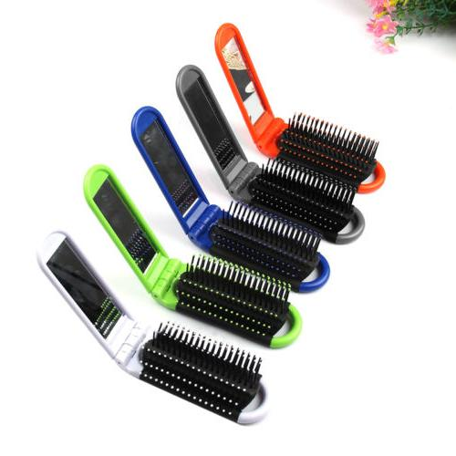 1pc portable travel small folding hair brush