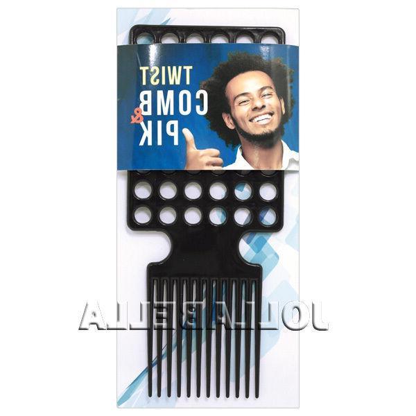 Twist Comb & Pik Afro Men's Kinky Styling Brush Dread Lockin