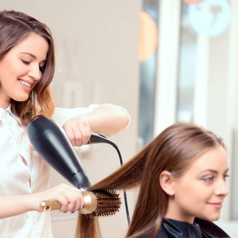 Ceramic Barrel Hair Brush With