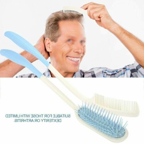 US Long Curved Hairbrush Long Hair Comb brush For Elderly Tool