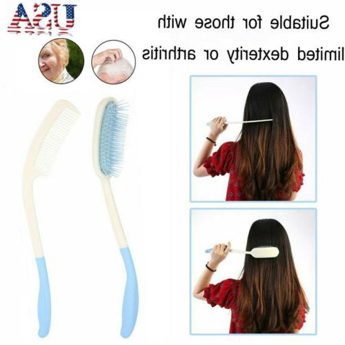 us long curved handle hairbrush long hair