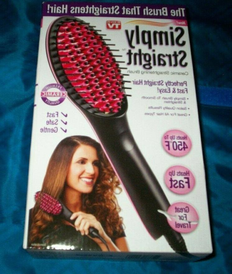 us simply straight ceramic brush hair straightener