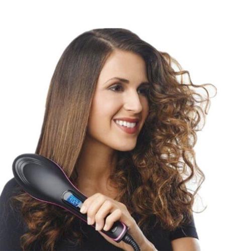 US Simply Brush Straightener Electric Comb Seen TV