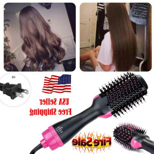 USA 2In1 One Hair Brush Straightening Iron Comb