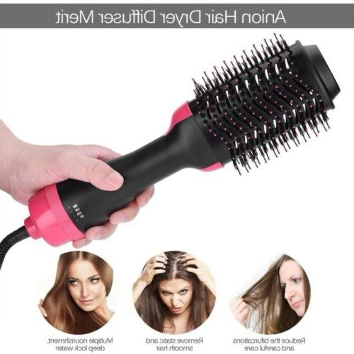 USA 2In1 Hair Dryer and Volumizer Brush Curling Comb