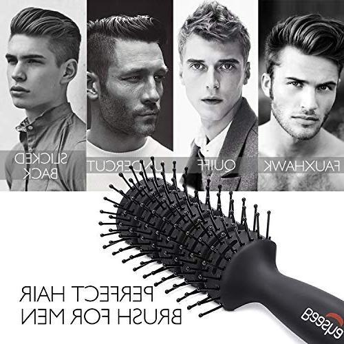 Baasha Hair Brush For Men & Women, Brushes Hair, Hairbrush For Blow Mens Hair Brush Ball Tipped Bristles, Mens Brush Wet or Dry - Black