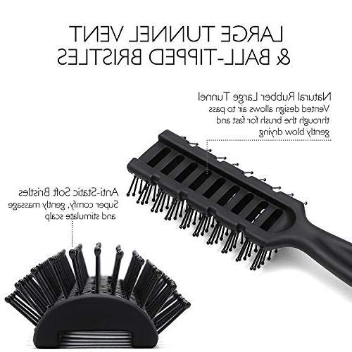 Baasha Brush For Men Hair, Vented Blow Drying, Mens Hair Brush Bristles, Best Brush Wet