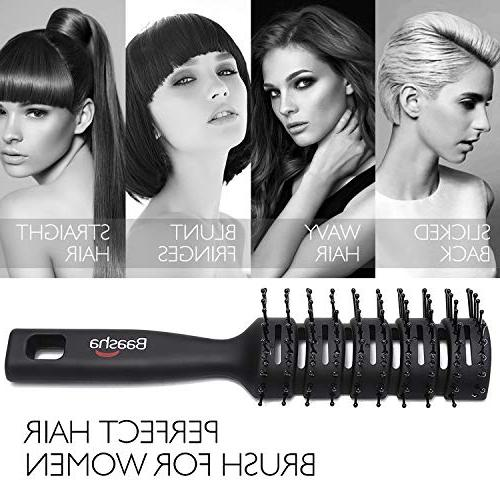 Baasha Brush, Vent Brush & Women, Vent Brushes Hair, Hairbrush Blow Brush Bristles, Best Brush For Wet or Dry