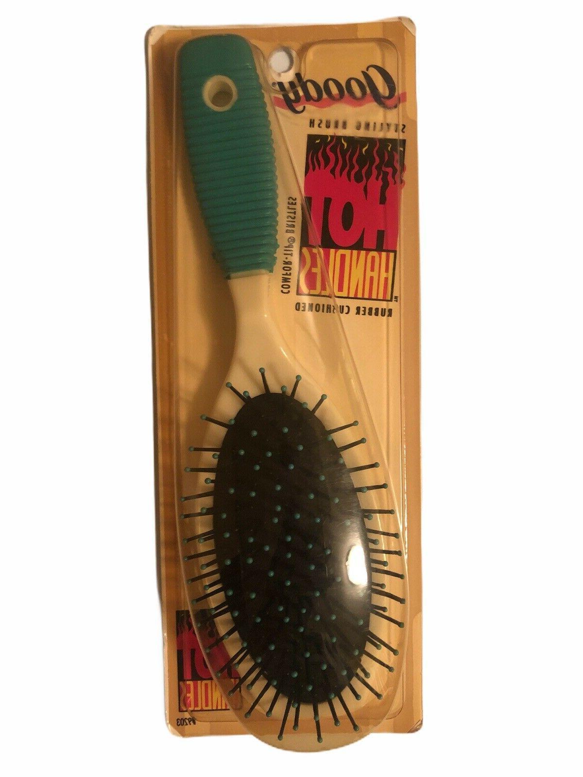 Goody Vent Styler Hair Brush Green White Vintage 1999
