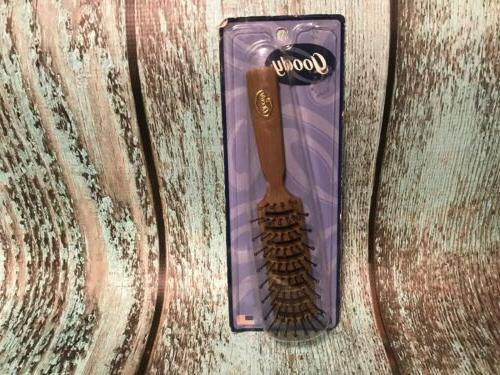 Vintage Goody Vent Blow Styler Detangling Hairbrush Faux Woo
