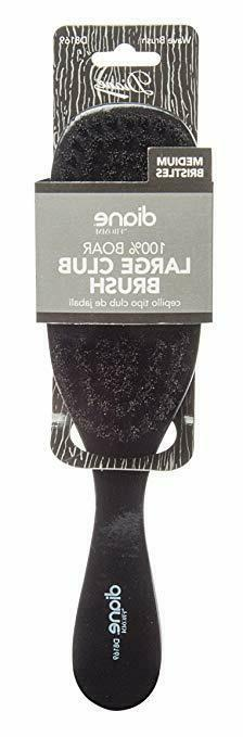 Diane Wave Hair Brush Soft Boar Bristles Medium Coarse Hair