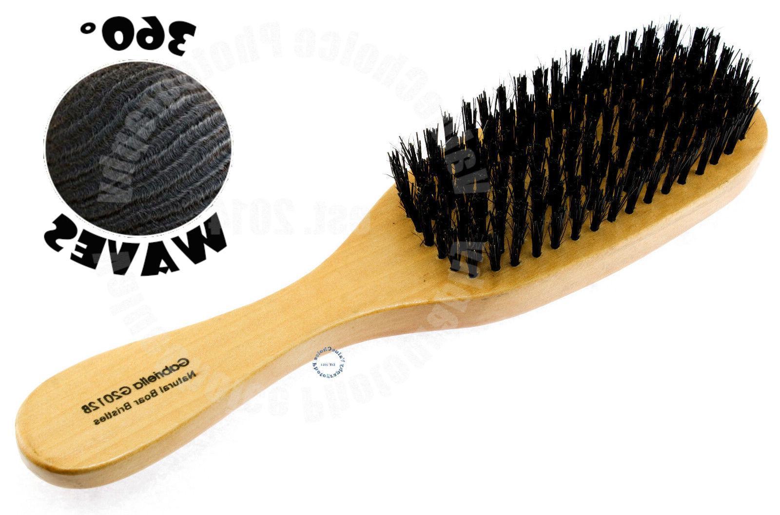 wave hair brush wood handle