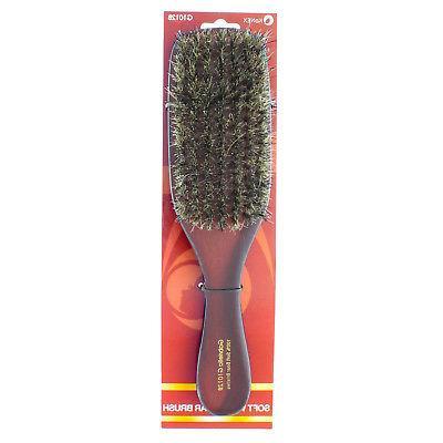 100% Soft Boar Bristle Wave Brush Wood Handle Premium G1012B