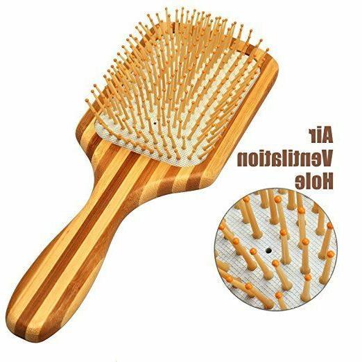 Bamboo Paddle Hair Brush-Detangling Scalp Massage