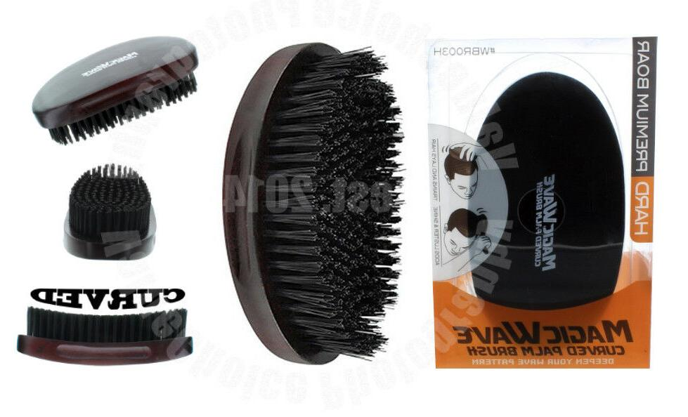 wave premium curved hard boar bristle hair