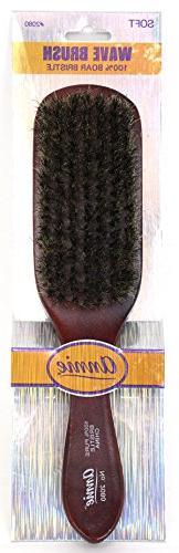 ANNIE Wave Soft Brush , Natural wood, boar bristles, wooden
