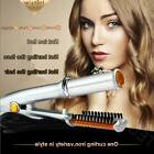 Wet to Dry 2-Way Rotating Curling Iron Hot Hair Curler Brush