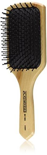 Scalpmaster Wood Cushion Paddle Brush