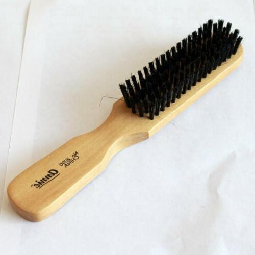 Wood Handle Hair Brush Soft Wild Boar Bristles Gentle Bass f