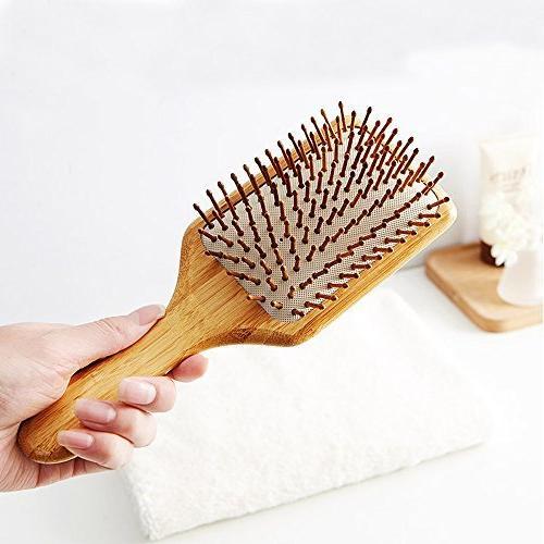 Natural Brush For Eco-Friendly Bristles Hairbrush Scalp Thin,Straight,Long,Curly,Short Hair Brush