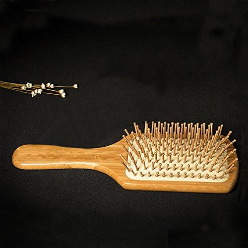 Natural Bamboo Brush Eco-Friendly Hairbrush Thin,Straight,Long,Curly,Short Brush