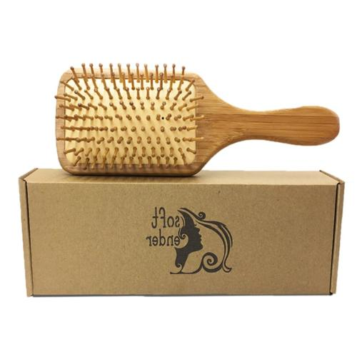 wooden bamboo hair brush thick