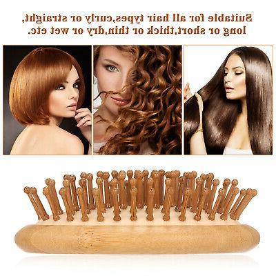 Wooden Brush Massage Comb Massage Hair Styling B5P5