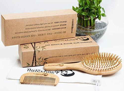 Wooden Brush – Organic Hair Brush And Comb Women For - Scalp Healthy Hair Free Stuff