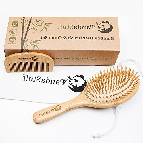 Wooden Brush Organic And Set Women And For - Scalp Healthy - Free Panda Stuff