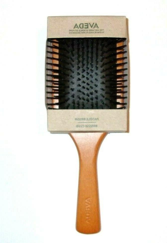 wooden large paddle brush detangle hair stimulate