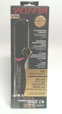 Revlon XL Hair Straightening Heated Styling Brush RVST2168