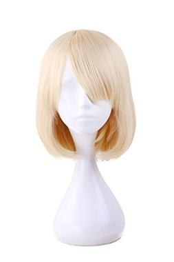 HH Building Women Layered Short Straight Bob with Side Bangs